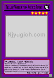 SUPER RARE DB2-EN012 YUGIOH! LP *** LAST WARRIOR FROM ANOTHER PLANET ***