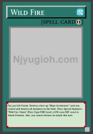 3 x Yu Gi Oh FOTB-EN039 Wild Fire